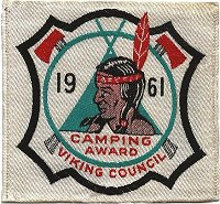 1961 Many Point Camping Award - Patch from Steve Young